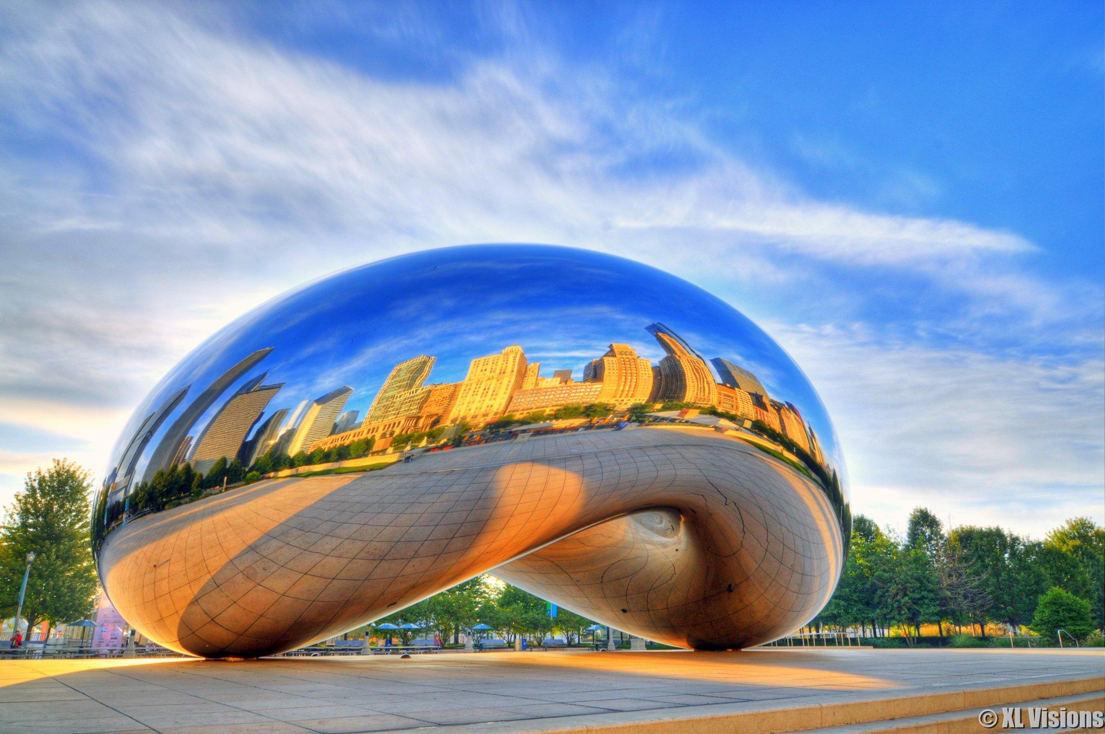 the bean at millenium park, il
