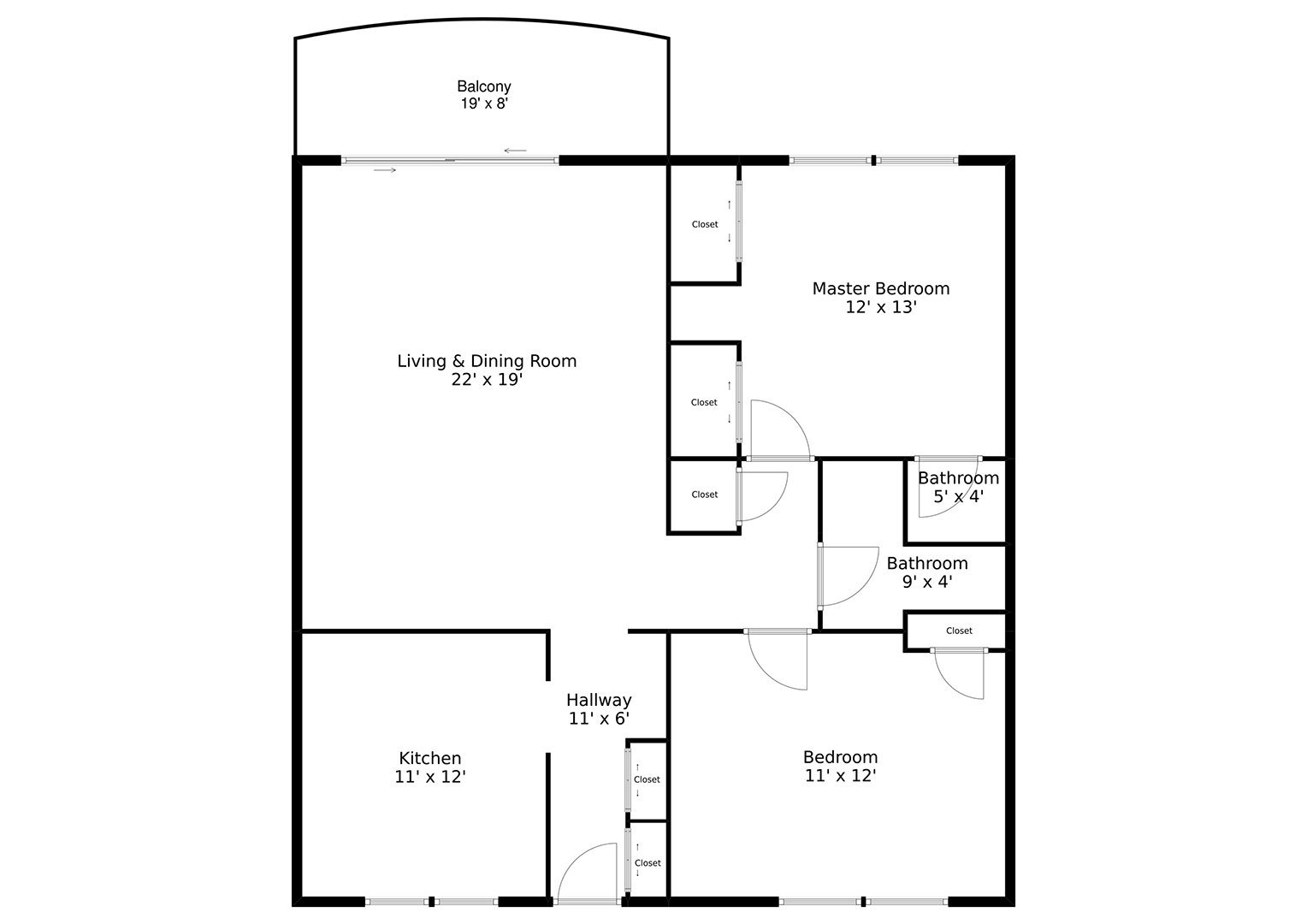 Example of a 2D Floor Plan created by XL Visions