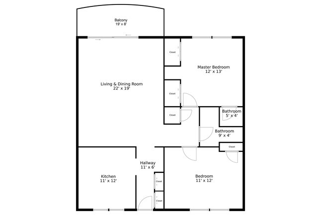 Example of 2D Floor Plan created by XL Visions